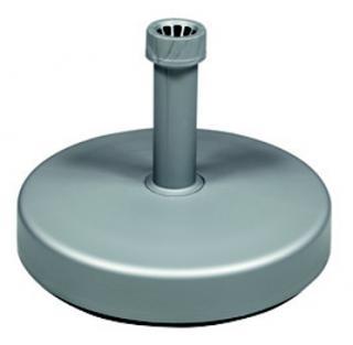 Stojan plastový plnitelný vodou, stříbrný, 25 litrů, Ø 45 cm