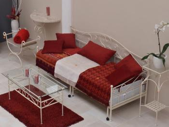 Kovaný gauč MALAGA rozkládací IRON ART B 0320