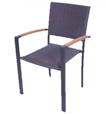 Ratanová židle - syntetický ratan HD NABYTEK A10380
