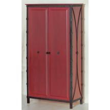 Šatní skříň dvoukřídlá s šatní tyčí a policemi, smrk 53 x 200 x 106 cm