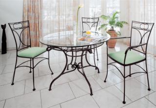 Kovaný stůl OHIO Ø 110 cm