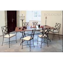 Kovaný stůl BOLOGNA 172 x 72 x 70 cm