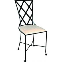 Kovová židle BOLOGNA s čalouněním