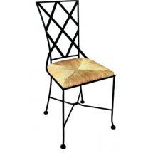 Kovová židle BOLOGNA se sedákem z mořské trávy