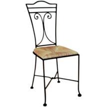 Kovaná židle JAMAICA se sedákem z mořské trávy
