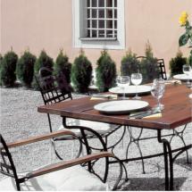 Kovový stůl VERSAILLES 142 x 72 x 70 cm