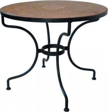 Kovový stůl ST. TROPEZ Ø 90 cm pro desku Ø 110 cm IRON ART ET 0597 A