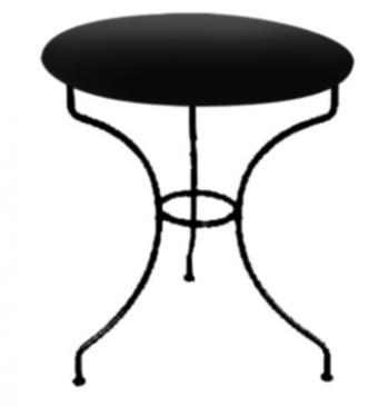 Kovový stůl MONTPELIER Ø 65 cm pro stolovou desku Ø 65 cm IRON ART ET 0542 C