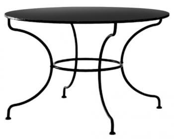 Kovový stůl MONTPELIER velký Ø 110 cm pro stolovou desku Ø 110 cm IRON ART ET 0543 B