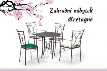 Set BRETAGNE stolová deska plech IRON ART V-ET1510