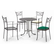 Kovová stolová podnož pro stolovou desku o rozměru 100 x 100 cm