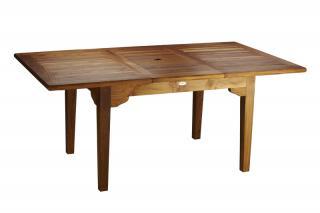Teakový zahradní rozkládací stůl ELEGANTE, 100x180/240cm