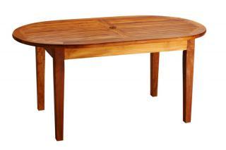 Teakový zahradní stůl DANTE, ovál 90x160cm