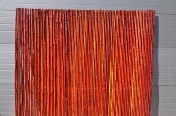 Bambusový plot 2x1,8 m, 18-20 mm barvený vínový Axin Trading s.r.o. 5714