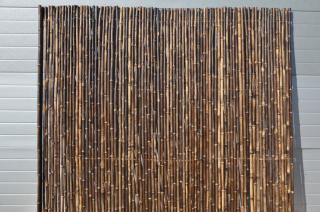 Bambusový plot 2x1,8 m, Φ18-20 mm, natural black