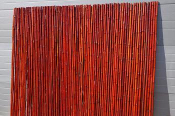 Bambusový plot 2x1,8 m, 25-30 mm barvený vínový Axin Trading s.r.o. 5715