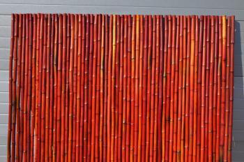 Bambusový plot 2x1,8 m, 26-35 mm barvený vínový Axin Trading s.r.o. 5716
