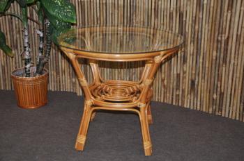 Ratanový stolek Bahama se sklem Axin Trading s.r.o. 120001