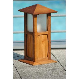 Teaková zahradní lampa LUCIO, 30x30x100cm