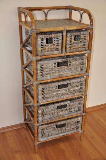 Ratanová komoda 4+2 zásuvky ratan kubu Axin Trading s.r.o. 1430