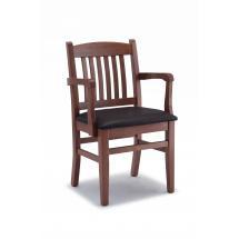 Jídelní a kuchyňská židle Art. 41 CAPOTAVOLA, područky, čalouněný sedák, buk