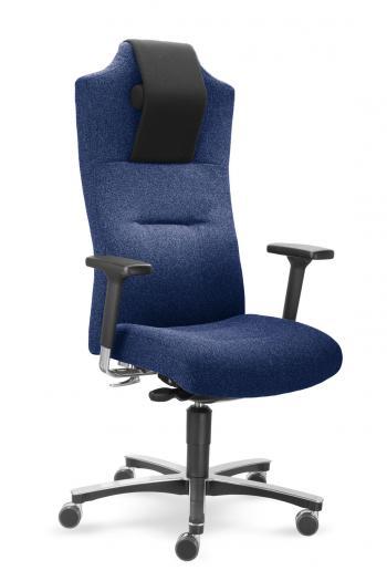 Zátěžové křeslo MYCRONOS s nastavitelnými područkami v modročerné barvě Mayer 2498AV_24001