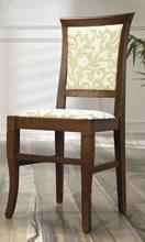 Jídelní a kuchyňská židle CLEO 3/4, čalouněná, vsazený sedák, buk
