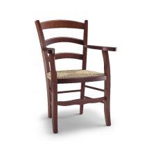 Jídelní a kuchyňská židle CONTADINA CAPOTAVOLA 214, sedák výplet, područky, buk