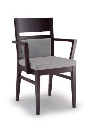 Jídelní a kuchyňská židle LEUVEN 110B, čalouněná, područky, buk Nuova Selas Selas Leuven 110B