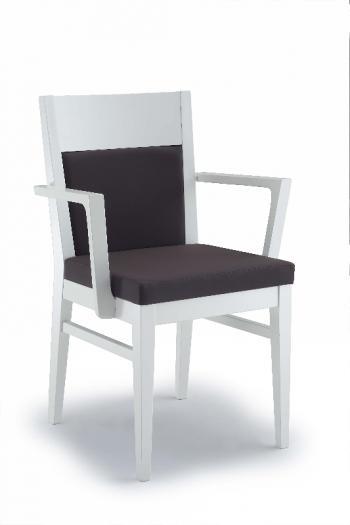 Jídelní a kuchyňská židle LONDON 110B, čalouněná, područky, buk Nuova Selas Selas London 110B