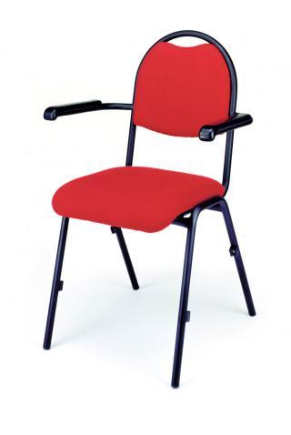 Jednací a konferenční  židle BRENDA Plus - čalouněná