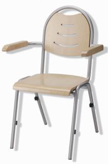 Jednací a konferenční  židle BRENDA Plus  - dřevěná