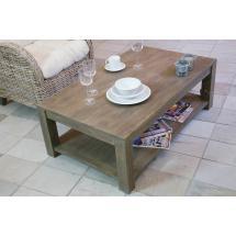 Konferenční stolek, masiv mango, 39x111x67 cm