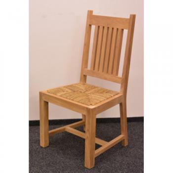 Teaková židle NANDA, sedák mořská tráva FaKOPA 11091