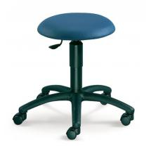 Otočná stolička MEDI, černý plastový kříž, čalouněná