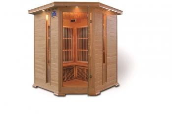 Infra sauna DeLUXE 4005 Carbon, rohová, pro 4 osoby V - garden 644005KC