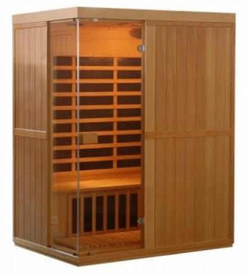 Infra sauna DeLUXE 3300 Carbon, LED osvětlení V - garden 643300KC