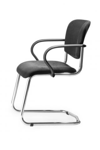 Pérová židle ACTION LINE s chromovou kostrou