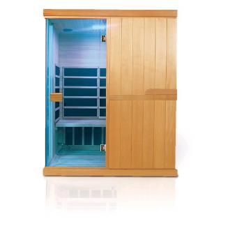 Infra sauna DeLUXE 3300 Carbon - BT, barevná terapie V - garden 643300KC-BT