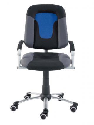 Rostoucí dětská židle FREAKY SPORT, s potahem v kombinaci barev šedá, černá, modrá