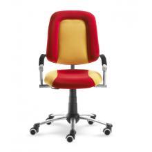 Rostoucí dětská židle FREAKY SPORT, s potahem v kombinaci barev červená a žlutá