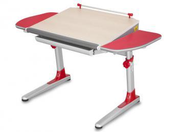 Rostoucí stůl YOUNG COLLEGE PROFI3 v provedení STANDARD, červené boční desky Mayer 32P3_11