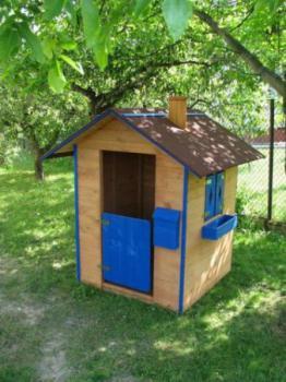 Dětský dřevěný domek , borovice ROJAPLAST 590562