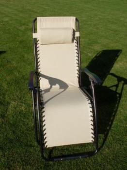 Zahradní relaxační křeslo AN2320 OXFORD, béžová ROJAPLAST 605/12