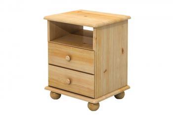 Noční stolek 2 zásuvky+otevř.prostor Bradop B833