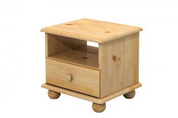 Noční stolek, masiv smrk Bradop B818