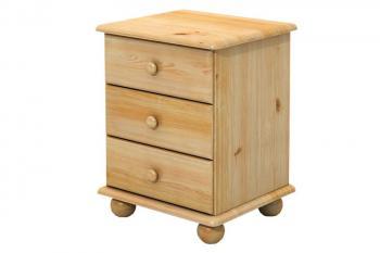Noční stolek 3 zásuvky, masiv smrk Bradop B802