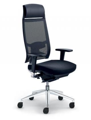 Kancelářská židle STORM, 550-N6-SYS, F50-N6, hliníkový kříž