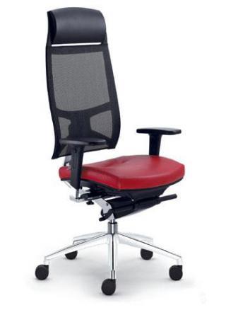 Kancelářská židle STORM, 550-N2-SYS, F50-N60, hliníkový kříž