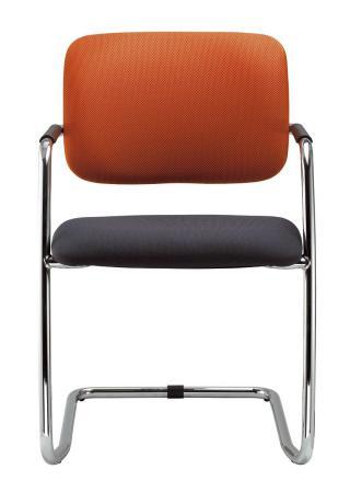 Kancelářská jednací a konferenční židle THEO @ 262-KZ-N2, konstrukce efekt hliník